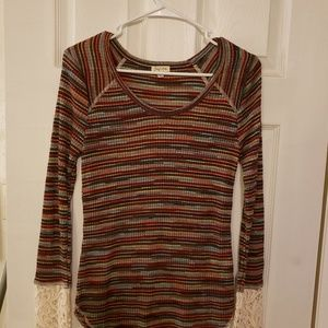 striped top. Never worn